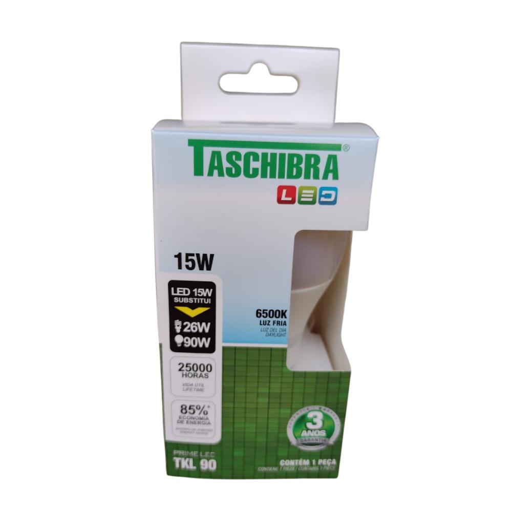 Lâmpada LED Taschibra 15W 6500K Luz Fria E27