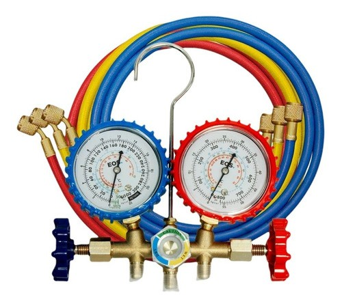 Manifold R22/R134a/R404a EOS Com Mangueira 0,9m Refrigeração