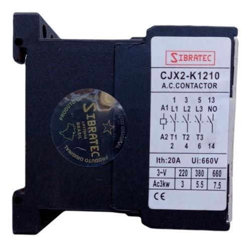 Mini Contatora 9a 220v Contator 50/60 Hz Sibratec Cjx2-k1210