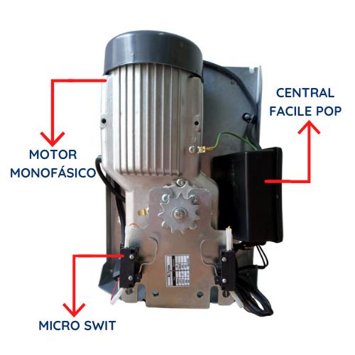 Motor BV Portale 400 Celtron 1/3CV com Calha de 2,50 mts Completa com Kit Fixação Cel-tron