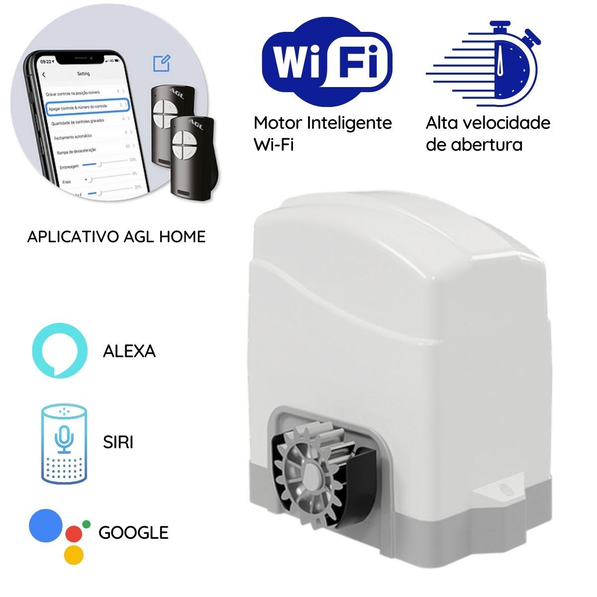 Motor com WIFI e Bluetooth IZZY SOFT 220V 50-60HZ 3 Mts Cremalheira AGL