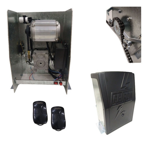 Motor De Portão Deslizante Semi Industrial Corrente 8Mts