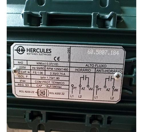 Motor Monofásico Hercules Ip44 380vac Protetor Térmico 220v