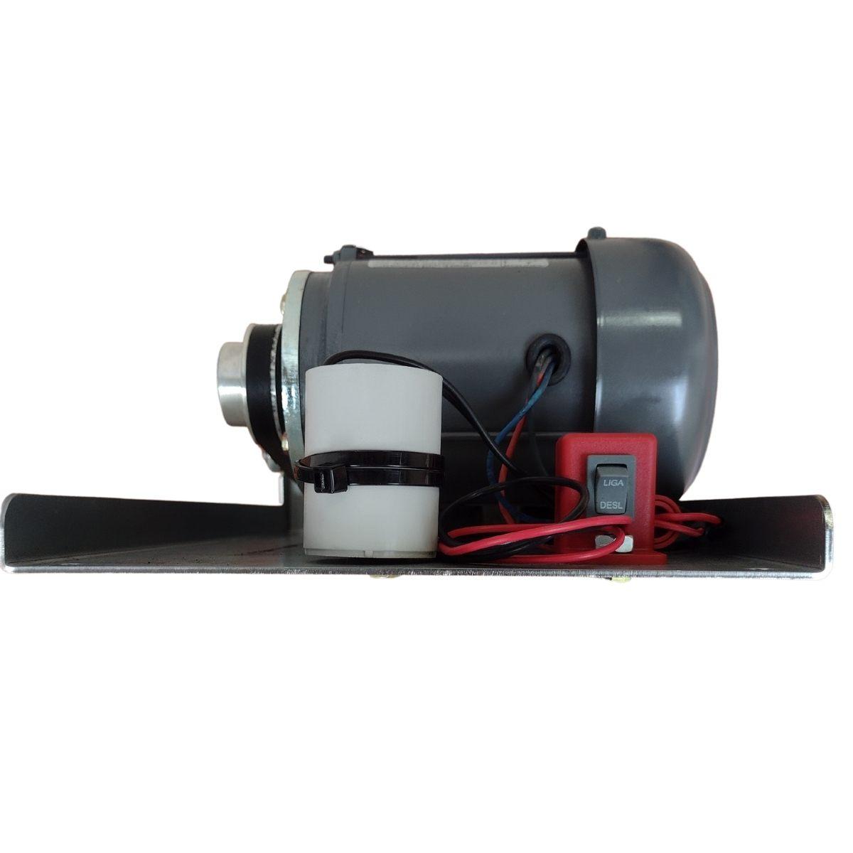 Motor Movimento Basculante 1/3 CV Bm10 com Calha de 1,35mts Brinde 2 Controles
