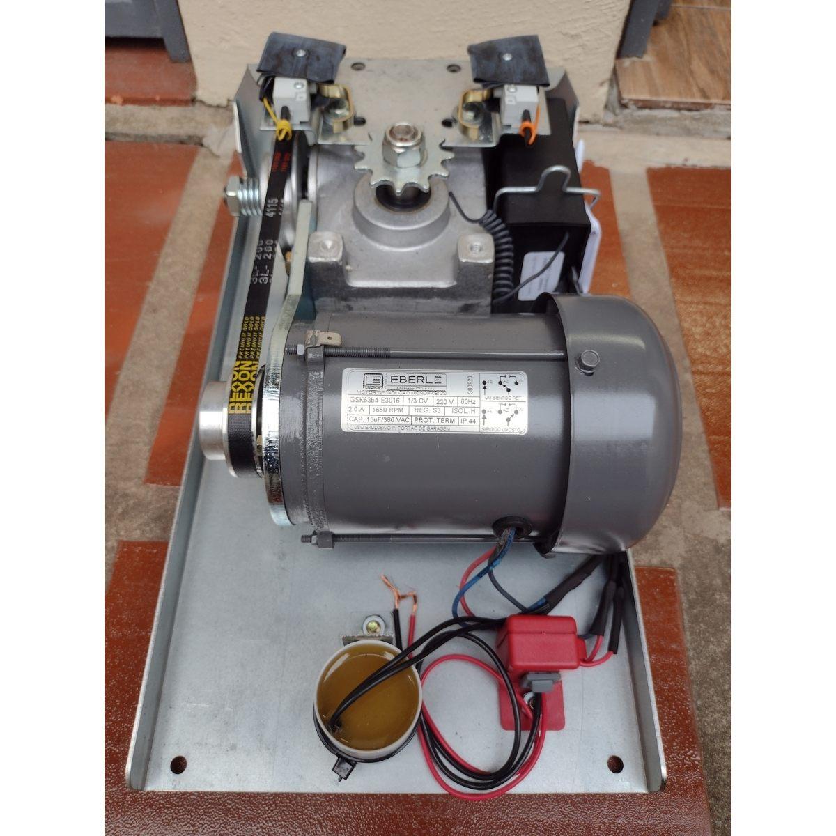 Motor Movimento Basculante 1/3 CV Bm10 com Calha de 2,50mts Brinde 2 Controles