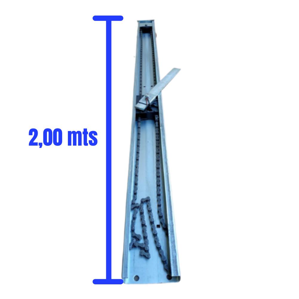 Motor Para Portão De Corrente 1/4 CV Celtron com Calha 2,00 Metros
