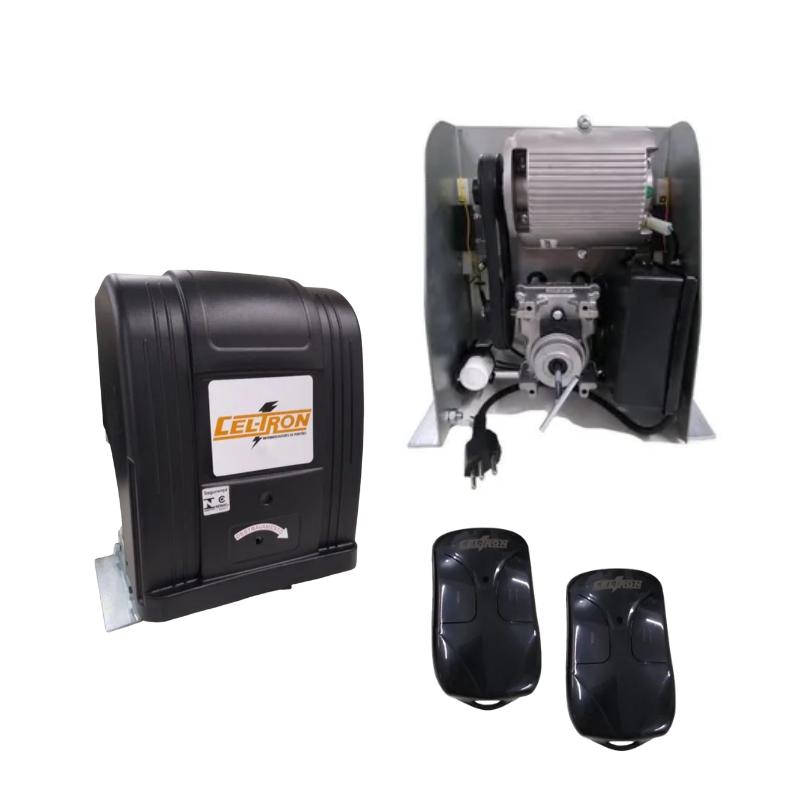 Motor Para Portão Deslizante com Corrente 5 Mts 433 Mhz Celtron