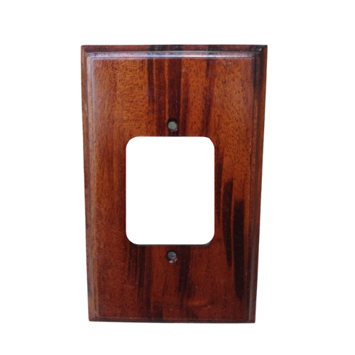 Placa Espelho 4 X 2 em Madeira de Qualidade Para 3 Teclas