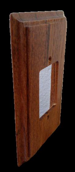 Placa Espelho 4 X 2 em Madeira Para 3 Teclas