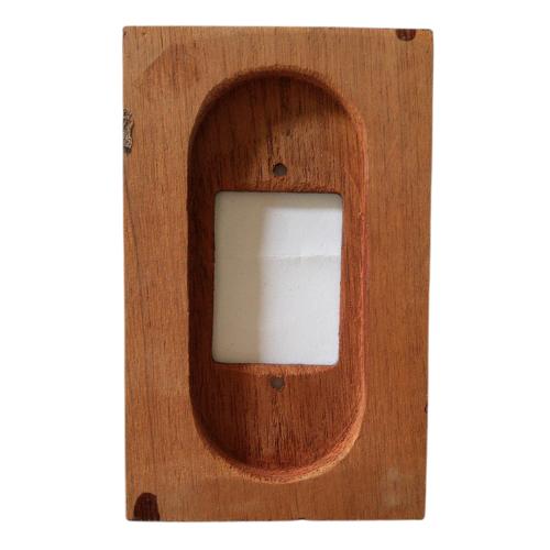 Placa Espelho 4 X 2 em Madeira Para 3 Teclas Imbuia