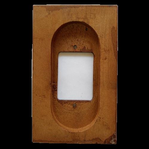 Placa Espelho 4 X 2 em Madeira Para 3 Teclas Imbuia Claro