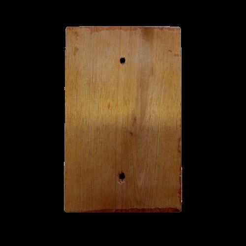 Placa Espelho de Madeira Cega Tonalidade Alaranjada