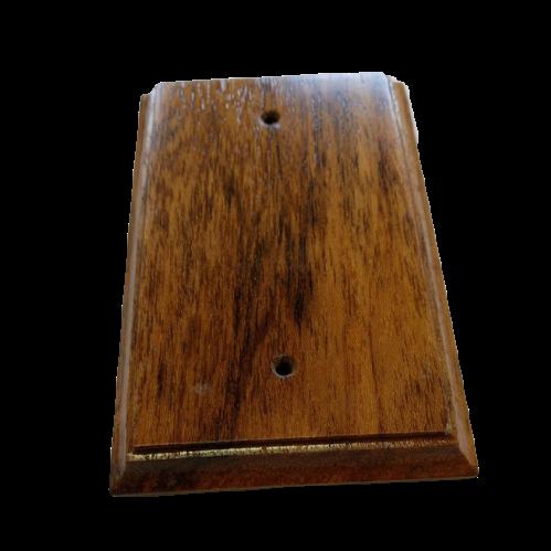 Placa Espelho de Madeira Cega Verniz Envelhecido