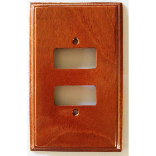 Placa Espelho de Madeira Para Tomada Dupla Interruptor