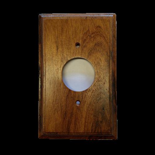 Placa Espelho de Madeira para Tomada Redonda