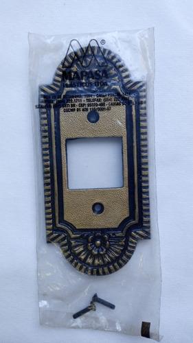 Placa Espelho Decorativo Vintage Retrô Colonial para 2 Interruptor