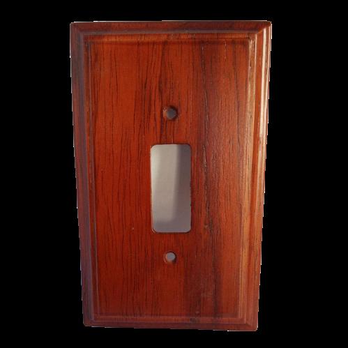 Placa Espelho em Madeira Para Interruptor Simples