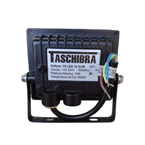 Refletor Taschibra TR 20W Slim Luz Fria 6500K Preto