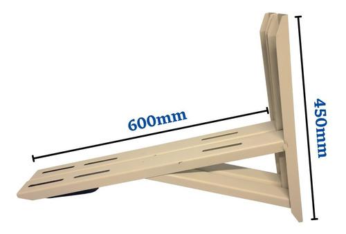 Suporte Ar Split 600mm Mão Francesa Até 30k Btus Kit Fixação