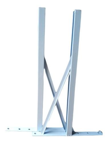 Suporte para Condensadora até 140kg/Par 550mm Perfil U Slim Pintura Eletrostática EOS