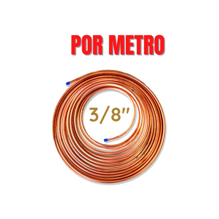 """Tubo Cano de Cobre 3/8"""" Flexível 1 Metro Eluma"""