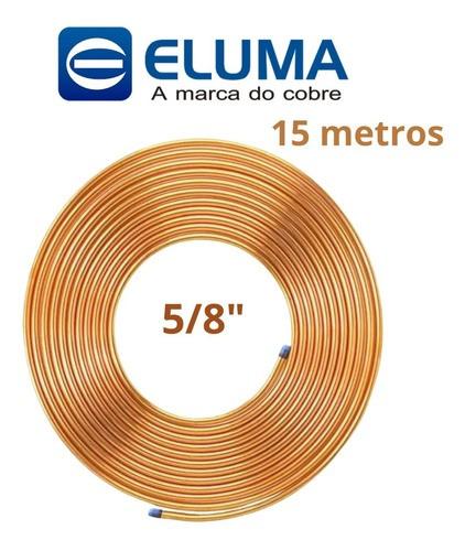 Tubo de Cobre Flexível Panqueca 5/8'' 15 Metros para Ar Condicionado