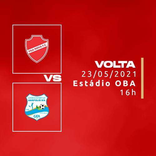FINAL - Vila Nova x Grêmio Anápolis  - Ingresso do Vila