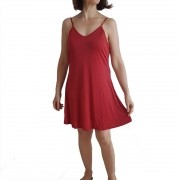 Camisola Vermelha de Malha Fria Com Regulagem Tamanho 48