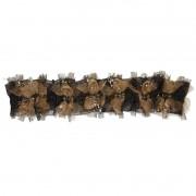 Liga de Perna Preta/Dourada - Empório das Calcinhas R00220
