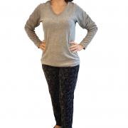 Pijama Feminino de Inverno Plus Size Tamanho 48