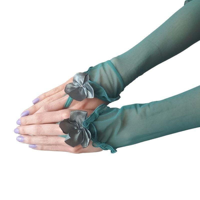 1 Par de Luvas em Tule - Violeta ou Verde