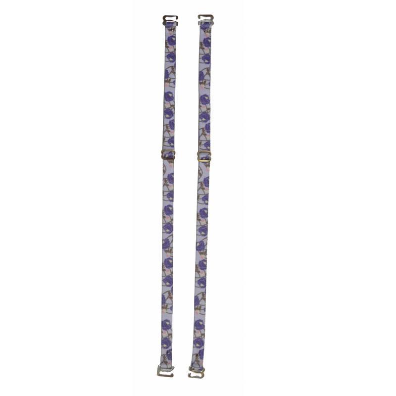 Alça de Sutiã com Estampa Floral Lilás - Empório das Calcinhas R00204