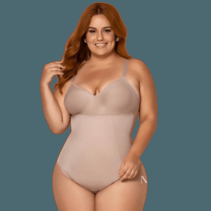 Body Modelador Plus Size Sem Bojo