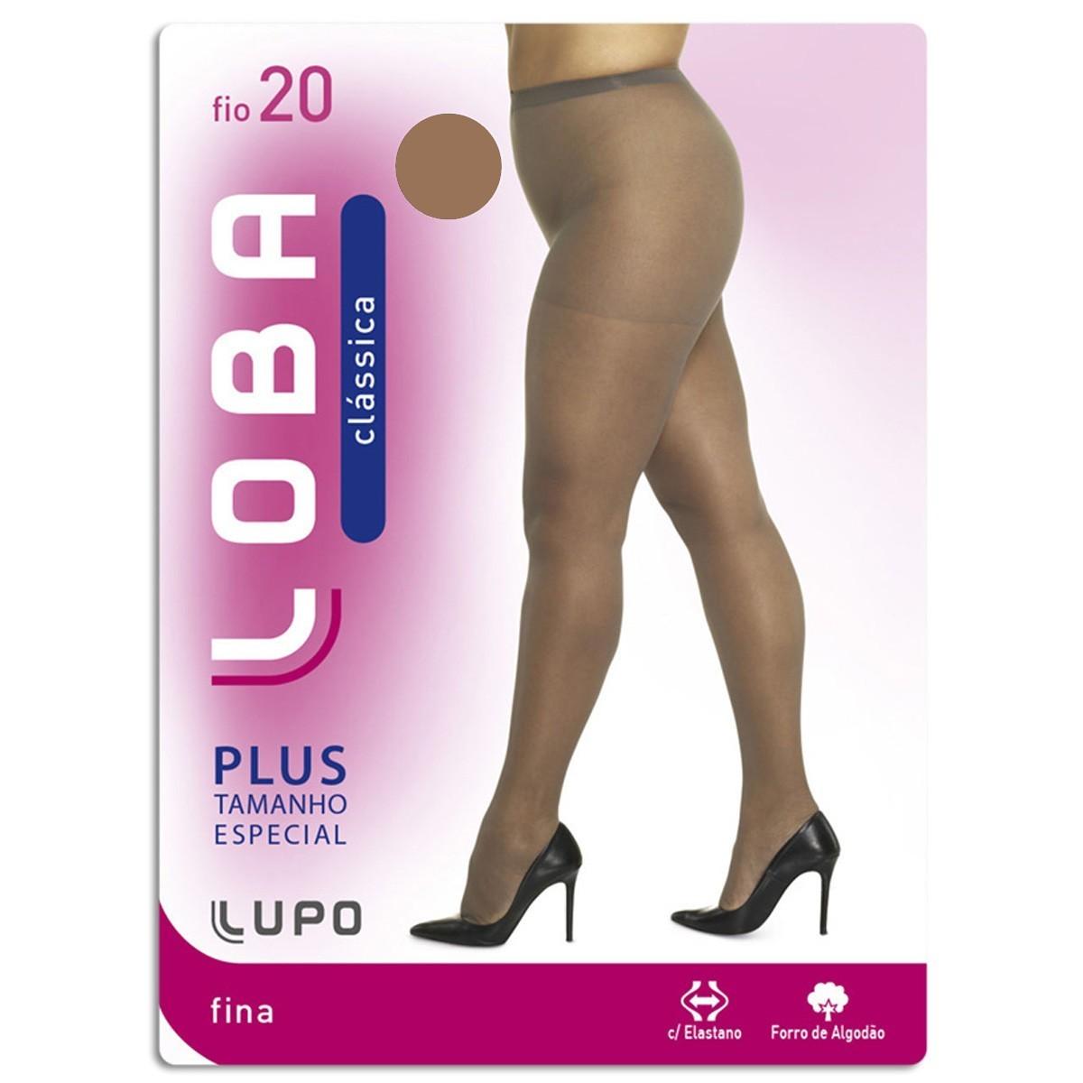 Meia-Calça Loba Lupo Clássica Plus Size Fio 20
