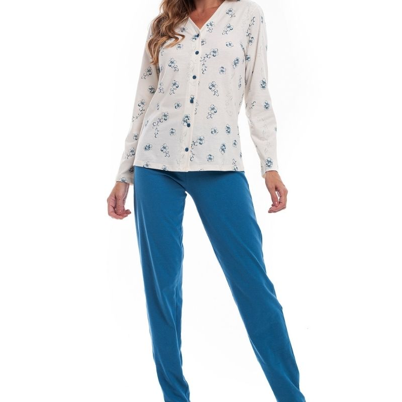 Pijama de Inverno Plus Size Com Abertura Tamanho 52