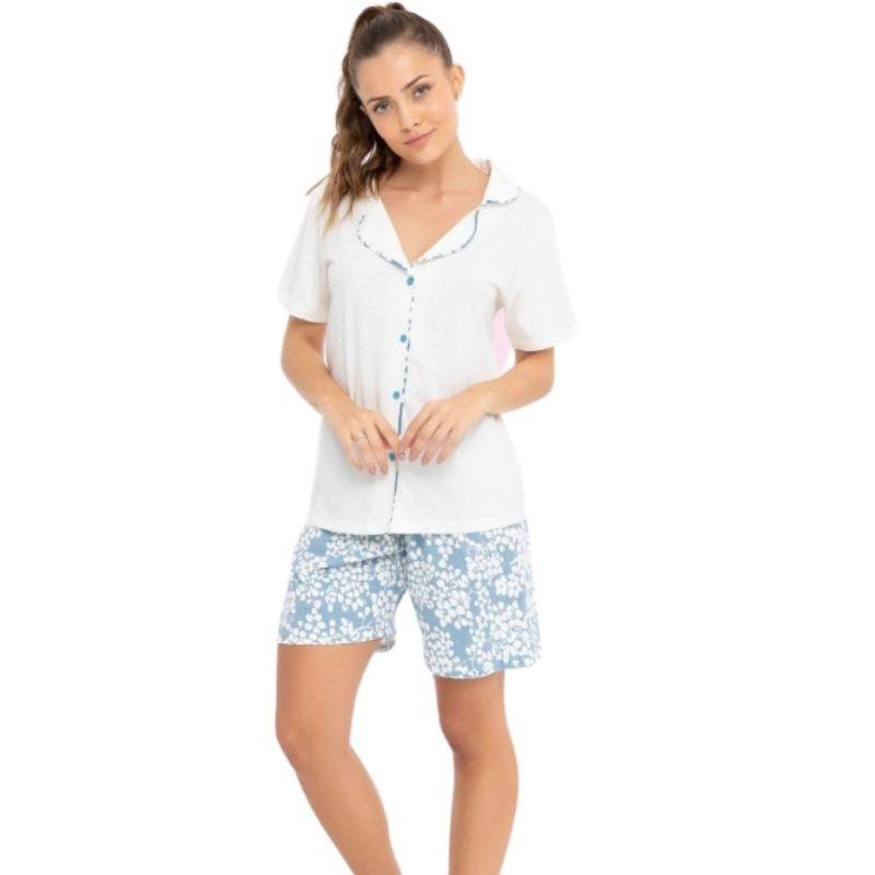 Pijama Feminino Aberto com Bermuda