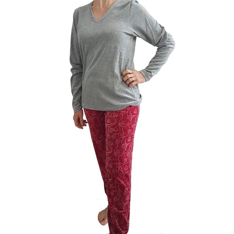 Pijama Feminino de Inverno de Plush