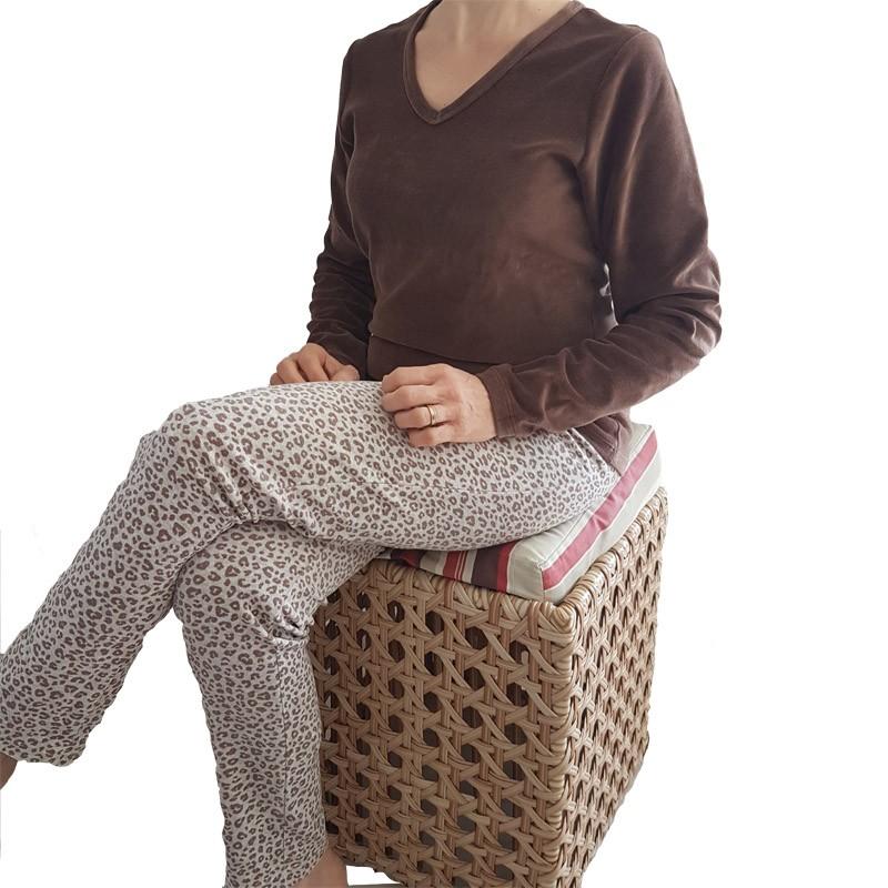Pijama Feminino de Inverno de Plush Tamanho 44