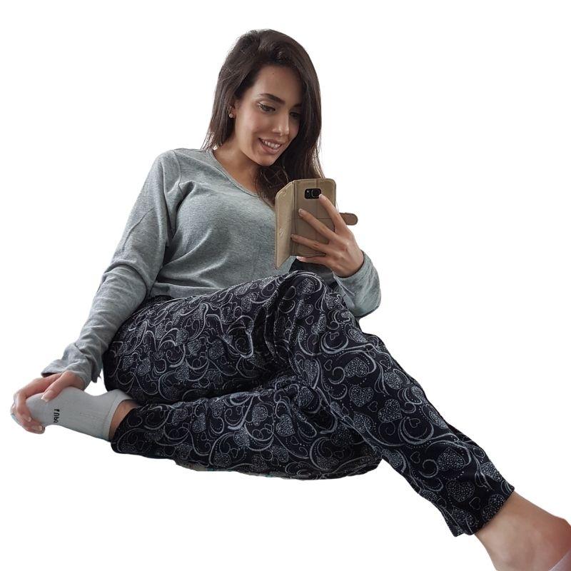 Pijama Feminino de Inverno de Plush Tamanho 42