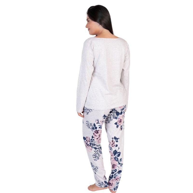 Pijama Feminino Inverno Aberto na Frente Algodão