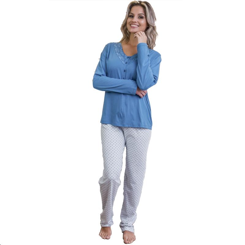Pijama Feminino Inverno de Malha