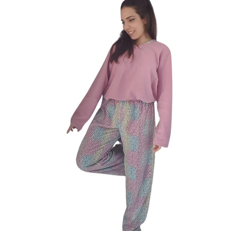 Pijama Feminino Inverno de Microsoft Tamanho 48