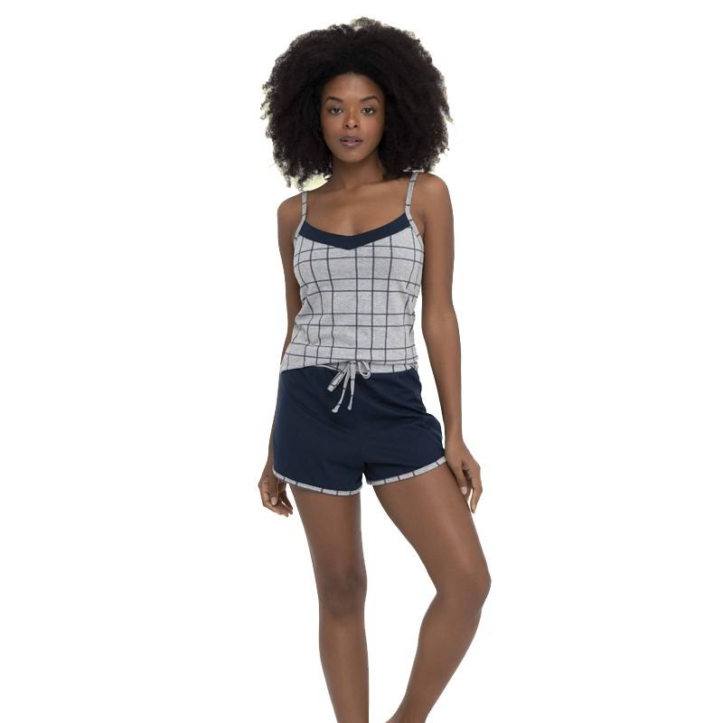Pijama Feminino Short e Regata Algodão