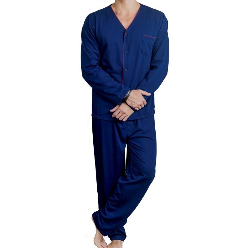 Pijama Masculino de Moletinho Aberto com Botões Tamanho M