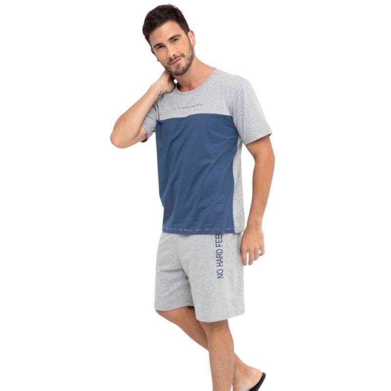 Pijama Masculino de Verão em Algodão Tamanho P