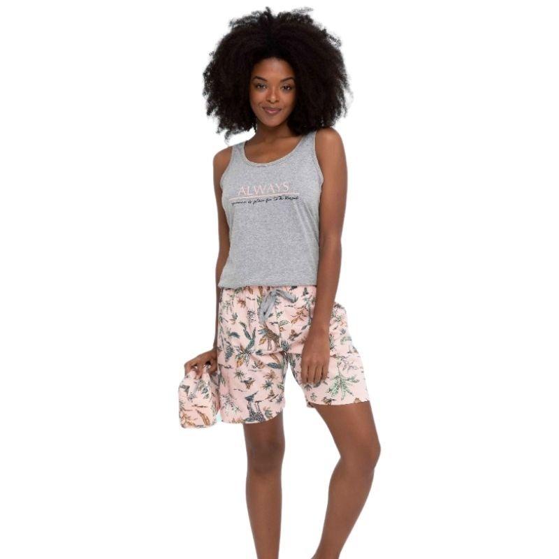 Pijama Plus Size com Abertura e Bermuda