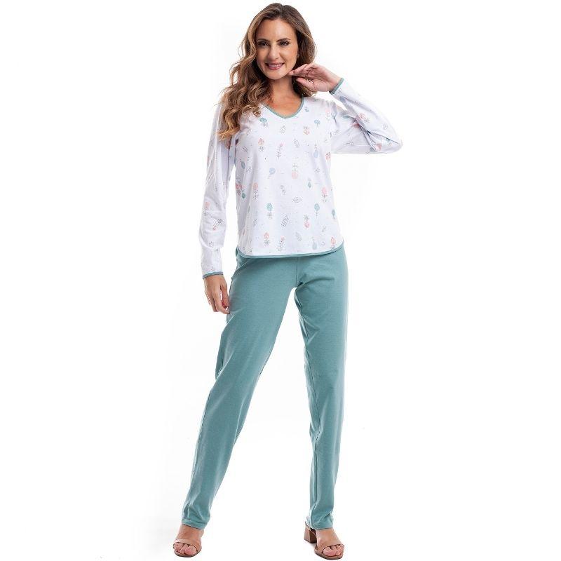 Pijama Plus Size de Inverno em Algodão