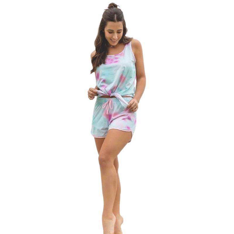Pijama Short-doll Tie Dye 100% Algodão