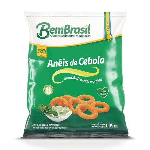 Anéis De Cebola Empanado 1,05Kg Bem Brasil