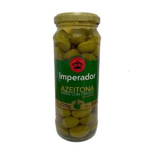 Azeitona Verde Com Caroço 200G Imperador